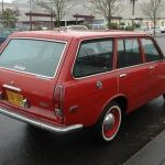 Red 510 Wagon Parked in Street