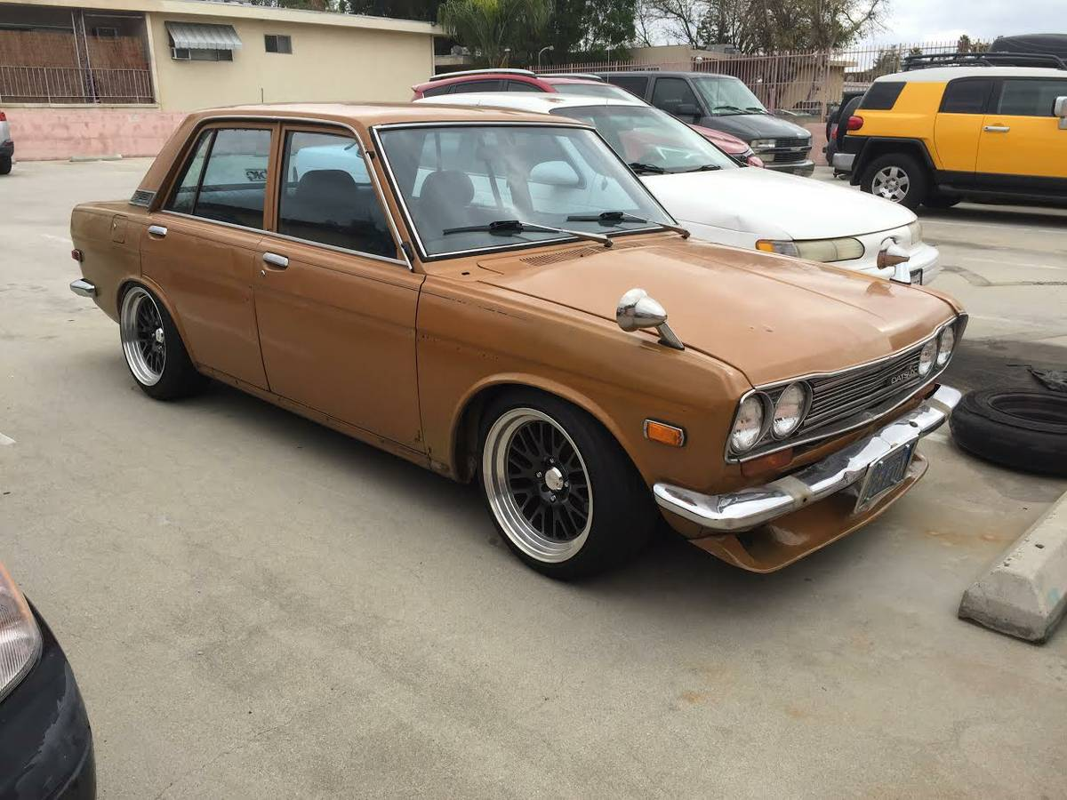 immaculate restored 1972 datsun 510 four door for sale los. Black Bedroom Furniture Sets. Home Design Ideas
